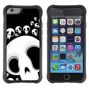 Pulsar Defender Series TPU Silikon Robust hülle Schutzhülle Case für Apple iPhone 6(4.7 inches) , Funny Skull Lol Face