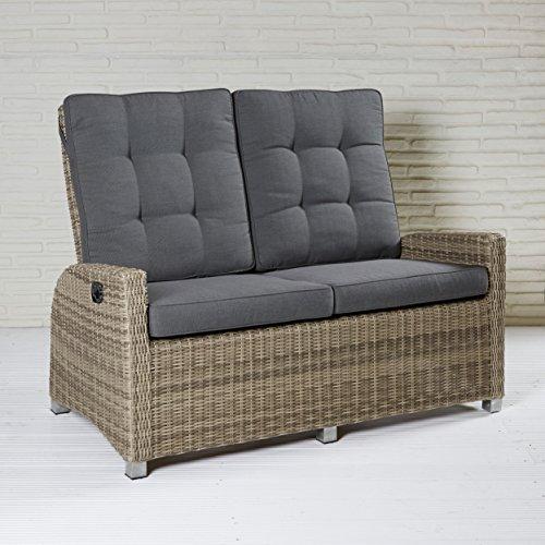 Gartenmöbel Gartensofa Valencia 2-Sitzer Sitzgruppe Sitzgarnitur Polyrattan Lounge Sofa Gartenset