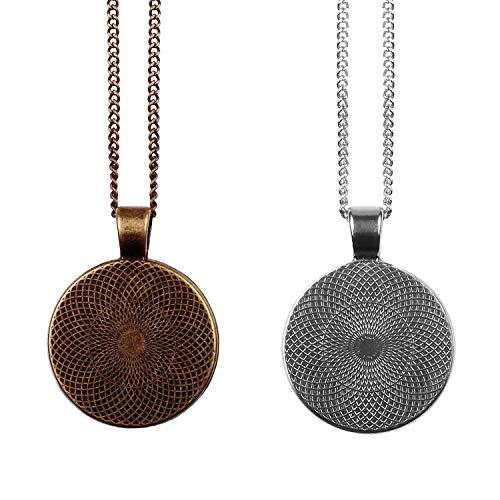 Mylery Hals-Kette mit Motiv Bit-Coin Krypto-währung Münze bronze 28mm - 4