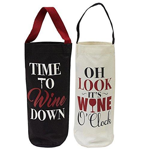 Design Imports Weinkeller Flasche Tragetaschen-Set von 2 -