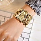 COOKDATE Uhren armband strass ausgefallene wasserdichte rn funkuhr edle preiswerte handuhr digitale solaruhr Gold 14622