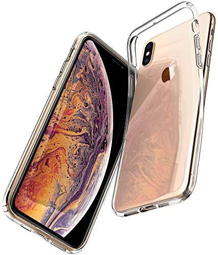 Spigen 065CS25122 Liquid Crystal für iPhone XS MAX Hülle, Transparent TPU Silikon Handyhülle Durchsichtige Schutzhülle Case Crystal Clear