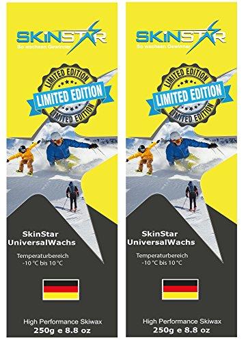 SKINSTAR Universal Wachs LIMITED EDITION Ski und Langlauf Wachs Ski Wax 500g