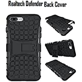 REALTECH Defender Shockproof Hard Back Case Cover With Flip Stand For Xiaomi Redmi 5A - Black