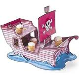 Cup Cake, Brownie Piraten Mädchen, Girl Piratenschiff pink, für Piratenparty,Geburtstag Palandi®