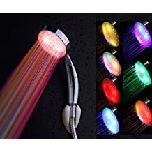 ciaoed multicolores–Alcachofa de ducha cabeza de ducha con LED lámpara 7colores contrôlées por temperatura