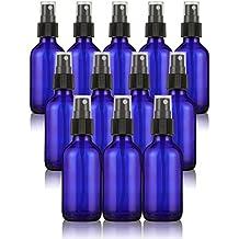 Juvale fina niebla Mini Spray botellas con atomizador pumps- para aceites esenciales, perfumes, y más–vacío botellas de cristal–recargable y reutilizable–azul cobalto 12Pack–2oz