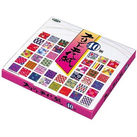 Papel Origami - Pack de Papel Origami estampado (Chiyogami) - Print Chiyogami - 40 patrones surtidos - 5 hojas de cada patrón - 200 hojas en total - 15cm x
