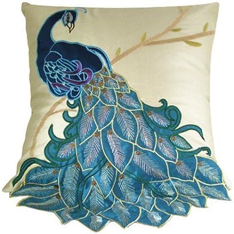 ourbest nueva moda Fancy vivos pavo real manta decorativa Funda de almohada Funda para cojín SHAM