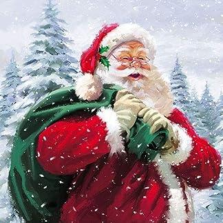 4 servilletas de papel para decoupage, 3 capas, 33 x 33 cm, Navidad, Ho Ho Ho! (4 servilletas individuales para manualidades y arte de servilletas)