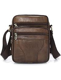 25ad57346 Realmark-Bolso bandolera de piel auténtica para hombre, bolso de negocios