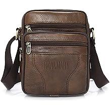 362e91d18 Realmark-Bolso bandolera de piel auténtica para hombre, bolso de negocios