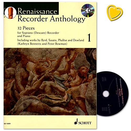 Renaissance Recorder Anthology Band 1 - 32 Pieces for Soprano (Descant) Recorder and Piano -...