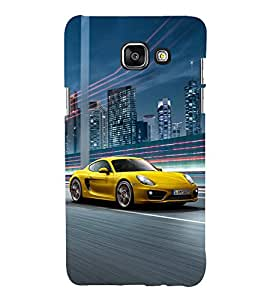 Fuson Premium Back Case Cover Race car With yellow Background Degined For Samsung Galaxy A5(2016)::Samsung Galaxy A5 A510F