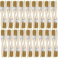 Kurtzy Pack 36 Brochas de 25,4mm - Brochas para Pintura, Tintes, Barnices, Pegamentos, Gesso, Pinturas al Óleo, Acrílicas y Acuarelas - Brochas Multiusos