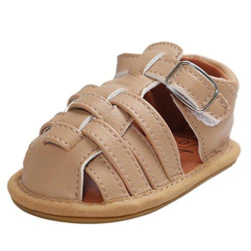 OverDose Baby Sandalen Kleinkind erste Wanderer Mädchen Jungen Kinder Schuhe  (11, Khaki)
