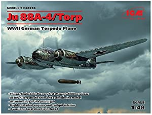 ICM 48236Maqueta de Ju 88A de 4Torp/A de 17WWII German Torpedo Lona