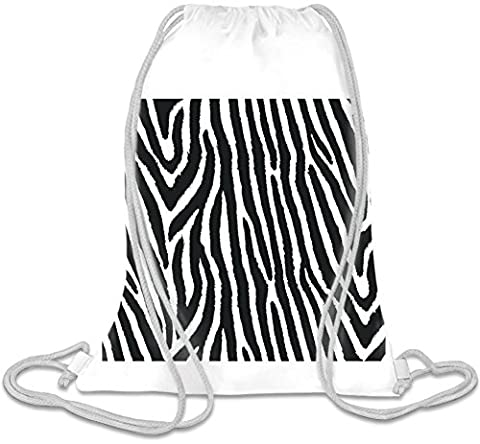 Zebra Print Pattern Full Print Custom Printed Drawstring Sack | 100% Soft Polyester| 5 Liter Capacity| Adjustable String Closure| The Stylish Bag For Every Day Use| Custom Bags By Bang