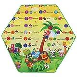 MagiDeal Sechseckige Baby Krabbeldecke Matt Kinderzimmer Kinderteppich Für Kinder Spielzelt Zubehör