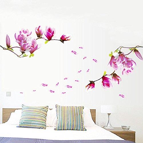 ularmo-mangnolia-belle-fleurs-amovible-sticker-stickers-papier-peint-en-vinyle-autocollant