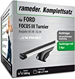 Rameder Komplettsatz, Dachträger Relingträger Kamei für Ford Focus III Turnier (135345-09157-37)