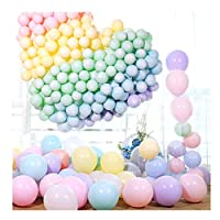 MTOYH E 100pcs 12 Inch Macaron Pastel Coloured Helium Balloons Birthday Inflated Pink Sets Assorted Colour Baby Shower Henparty Wedding Graduation Decorations for Girls Christmas (100PCS)