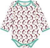 loud + proud Unisex Baby Body Lang Aus Bio Baumwolle, GOTS Zertifiziert Spieler, Rosa (Berry Ber), 68 (Herstellergröße: 62/68)