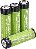 AmazonBasics - Batterie AA ricaricabili, pre-caricate, confezione da 4 (l'aspetto potrebbe variare dall'immagine)