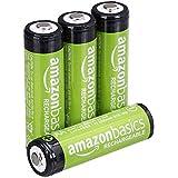 Voorgeladen oplaadbare AA-batterijen 2000 mAh / minimum van AmazonBasics: 1900 mAh [pak van 4 stuks] - buitenkant van de behuizing kan variëren