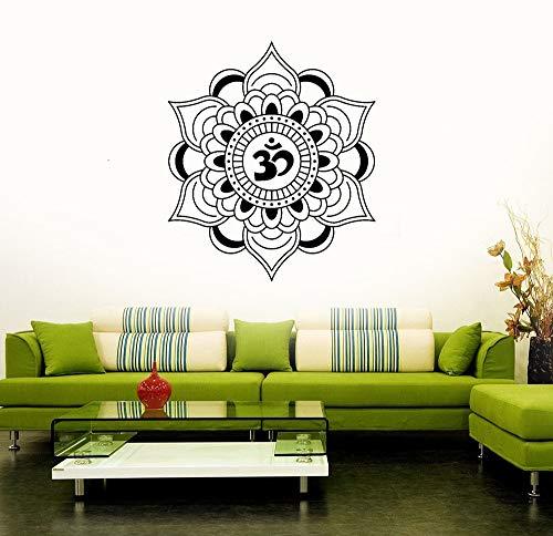Shentop Mandala Wandaufkleber für Wohnzimmer Lotus Talisman Buddhismus Hinduismus Kunst Aufkleber Home Interior Design Dekor 57x66 cm