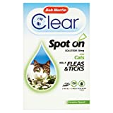 Bob Martin Flea & Tick Clear Fipronil Cat Spot on Solution, 3 Tubes
