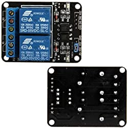 Ecloud Shop 2-Canal Modulo rele para Arduino ARM PIC AVR DSP PLC Electronic 5V