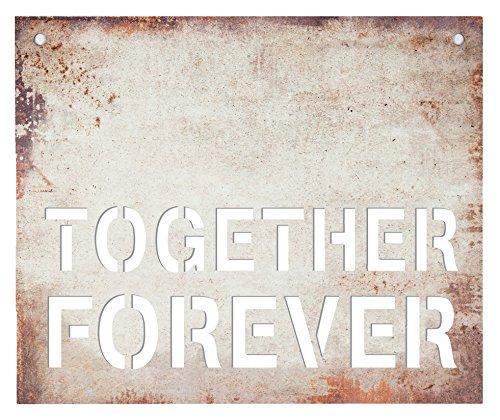 P. Graham Dunn Together Forever Stahl Metall Look 19x 16Holz Schablone Wandschild (Schablonen Für Wand-plaques)