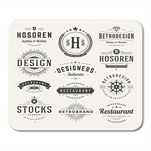 Mouse Pads Seal Hipster Retro Vintage Insignias Logotypes Design Signs Identity Labels Badges and Objects Emblem Mouse Pad for Notebooks,Desktop Computers Office Supplies -