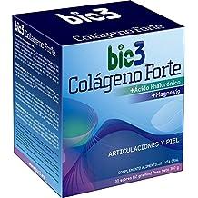 NUEVO bio3 - Colágeno Forte. Colágeno Hidrolizado alta absorción (líder del mercado), Ácido Hialurónico, Magnesio, vitaminas C, A y K. Agradable sabor y ...