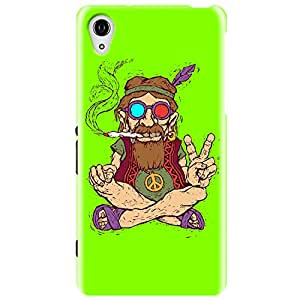 Wildpunch WP-SXZ3(14) Hippie Designer Phone Back Cover Case For Sony Experia (Green)