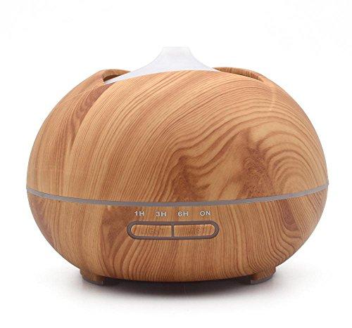Preisvergleich Produktbild HLH-CTRL Auto Luftbefeuchter Holzmaserung 300ml Großer Wassertank Luft Filter