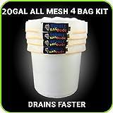 BUBBLEBAGDUDE alle Mesh 20Gallonen Herbal Hash Ice Extractor Kit–Kommt mit Drücken Bildschirm und Aufbewahrungstasche