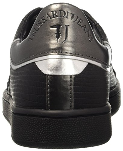 79s26351 Jeans Donna Pedana Dal Metallo Pompe Grigio Trussardi Piatta pistola x4EwTqURR