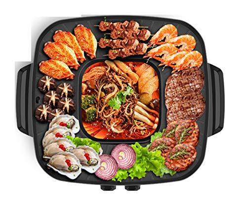NANXCYR BBQ PotKoreanischer Stil BBQ Poke Hot Pot antistick powerful stovetop Grill Dual Pot Top Round Steak