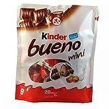 #6: Kinder Bueno Mini Milk Chocolate with Hazelnut 20 Minis Packet, 108g