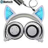 Bluetooth MIC Wiederaufladbare Wireless Headsets Katze Ohr faltbar einstellbare Flash