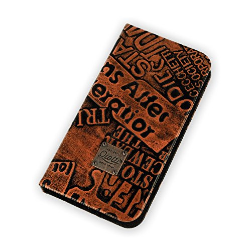 QIOTTI QX-B-0120-01-SGA5 Q.Book Look Slim Case für Samsung Galaxy A5 Pure braun