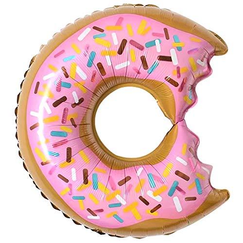 Luwu-Store Alles Gute zum Geburtstag Ballon Donuts Geburtstagsparty Festival Lieferungen Dekorationen Kinder Ballon Sprinkle Donut Folie Mylar Ballon 1 Stück