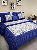 #6: JAIPUR PRINTS Floral bedsheet 100 % cotton comfort rajasthani jaipuri traditional king size Double Bedsheets with 2 Pillow cover