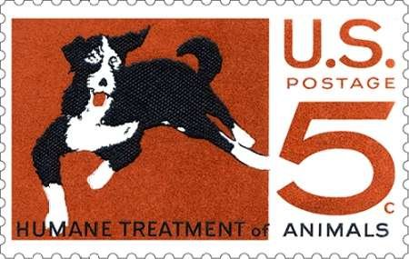 Humane Treatment of Animals par US POSTAL SERVICE -Imprimé beaux-arts sur toile - Petit (49 x 30 cms)