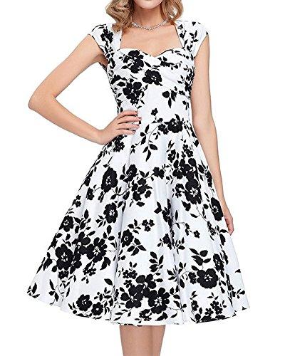 50S Rockabilly Vestito Limone Stampa Abito Giallo Senza Maniche Senza Schienale Vestito Donna Vestiti Nero