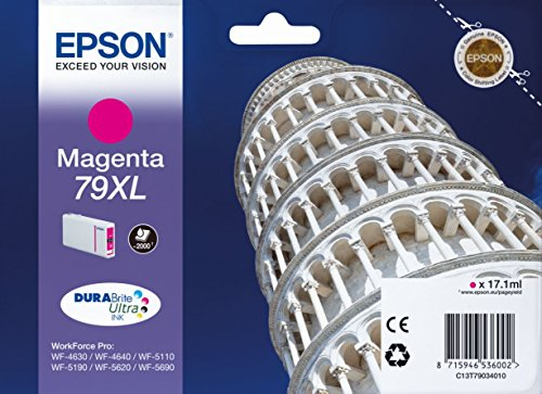 Epson 79 Serie Torre, Cartuccia Originale Getto d'Inchiostro DURABrite Ultra, Formato XL, Magenta, con Amazon Dash Replenishment Ready