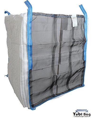Yubi Bag Confezione da holzbag 100x 100x 160cm fondo chiuso, legna da ardere Sacco/legna da ardere/WOODBAG