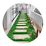 GHHZZQ Kreativ 3D Läufer Teppich Flur Kein Ausbleichen Schneidbar Superfeine Faser Haushalt Teppichläufer, 1 Farbe, 0,4 cm Dick, 44 Größen, Anpassbar (Color : A, Size : 0.6x2m)